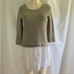A'reve Anthropologie layered tunic top Size small